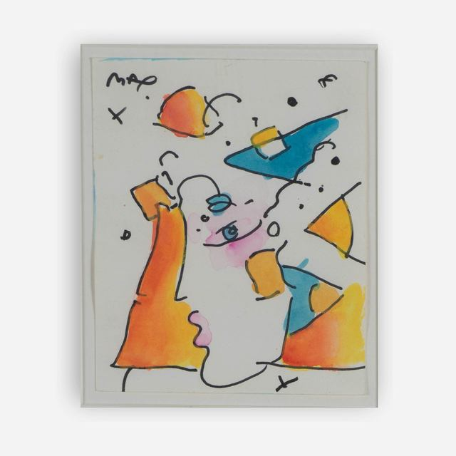 Peter Max, 'Untitled (Profile in colors)', Capsule Gallery Auction