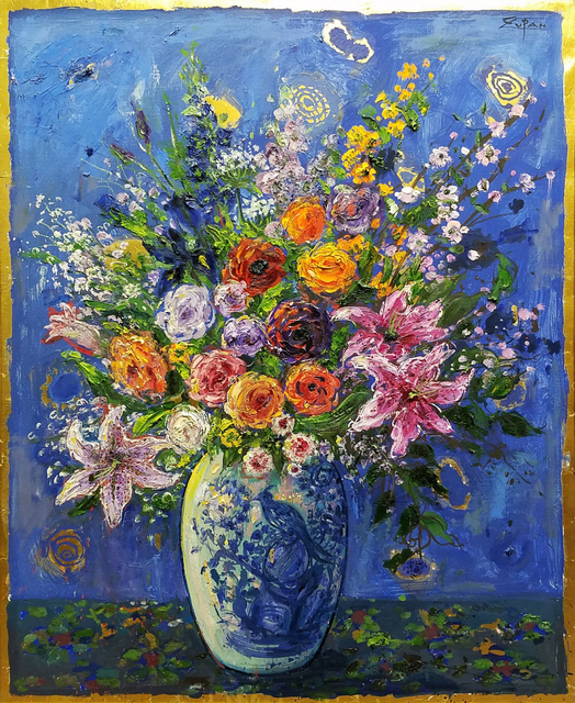 , 'Bouquet in Chinese Ginger Jar, Blue Ground,' 2017, Galerie d'Orsay