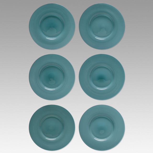 Paolo Venini, 'Opalino plates, set of six', c. 1950, Wright