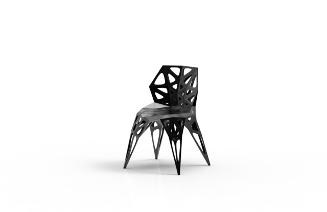 , 'MC007-F-Black (Endless Form Chair Series),' 2018, Gallery ALL