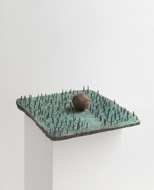 João Maria Gusmão & Pedro Paiva, 'Tennis ball on grass', 2018, Sculpture, Patinated bronze, Sies + Höke