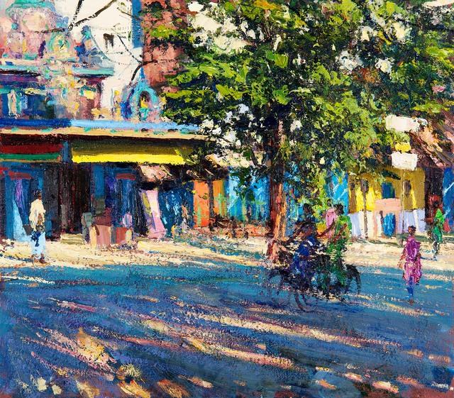 , 'Temple in Sunlight, Pondicherry,' 2018, John Martin Gallery