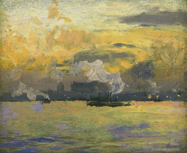 , 'Jersey City at Sunset,' , Avery Galleries