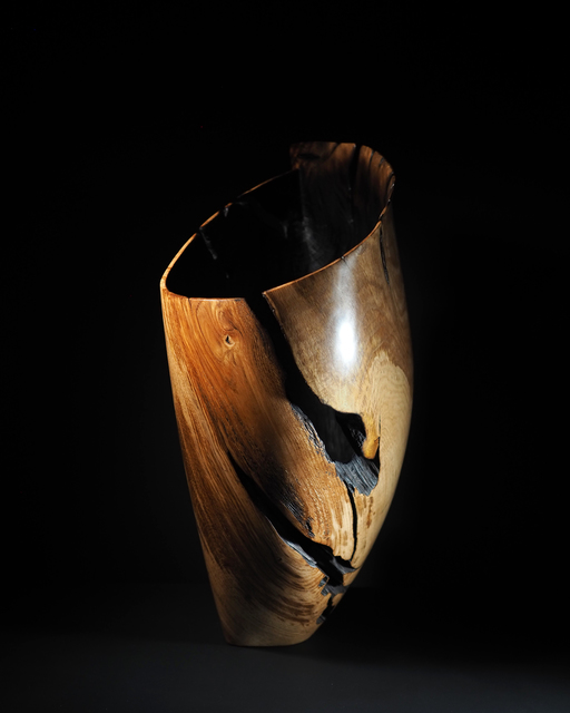 , 'Flamed Oak Vessel,' 2019, Sarah Myerscough Gallery