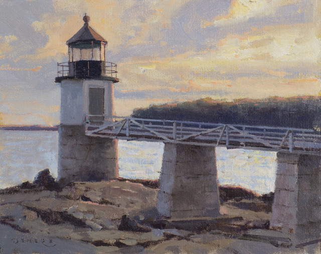 Donald W. Demers, 'Fading Light, Marshall Point Light, Port Clyde, Maine', 21st Century, Painting, Oil on mounted linen, Vose Galleries