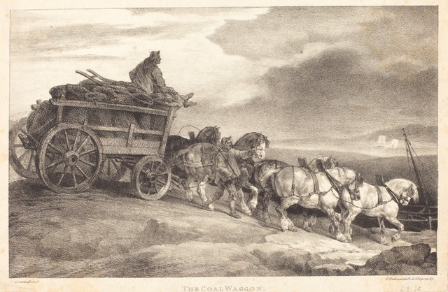 Théodore Géricault, 'The Coal Waggon', 1821, National Gallery of Art, Washington, D.C.