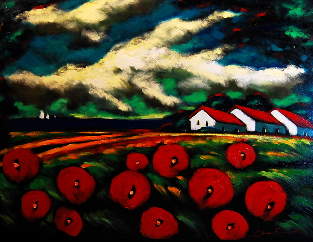 , 'Poppies by the Bay,' , Baterbys