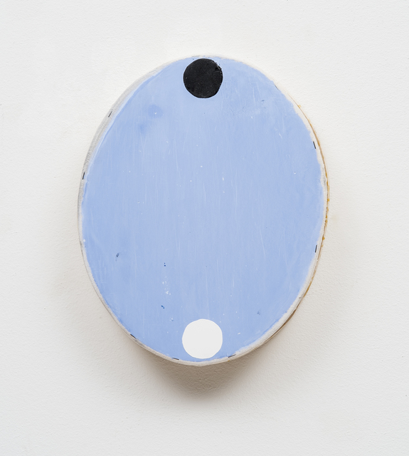 , 'Blue Oval with Black and White Circles,' 2016, Barry Whistler Gallery