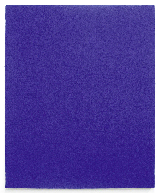 , 'Monochrome bleu sans titre (IKB 4),' 1961, Fondation Beyeler