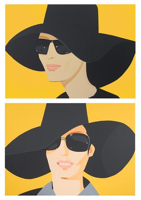 Alex Katz, 'Ulla in Black Hat / Vivien in Black Hat (Set)', 2010, Print, Silkscreen on paper, Galerie Schimming