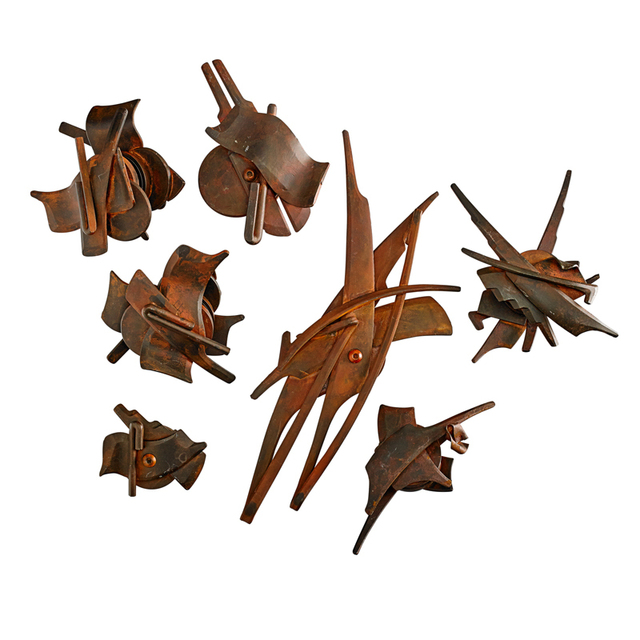 Albert Paley, 'Four Sets And Three Individual Door Handles, Rochester, NY', Rago/Wright