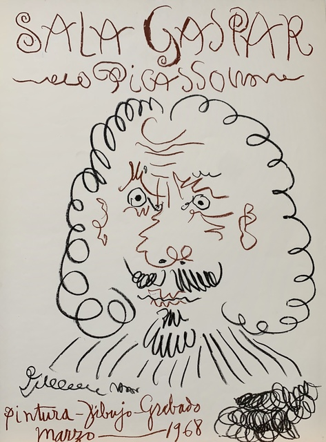 Pablo Picasso, 'Sala Gaspar Exhibition Poster', 1968, Leonard Fox Ltd