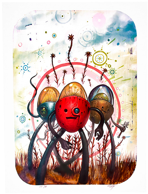 Jeff Soto, 'TRES FLORES Artist Proof', 2006, Silverback Gallery