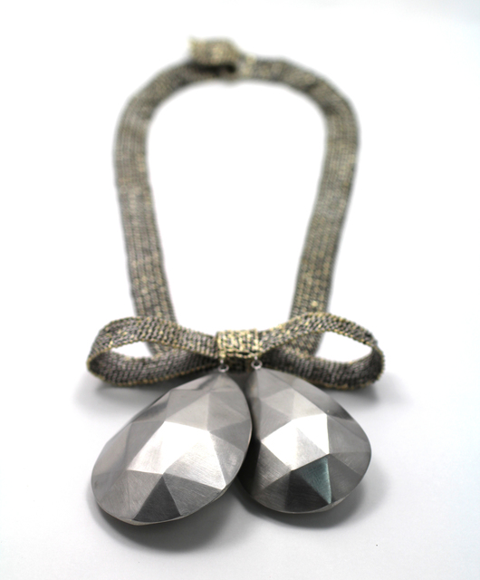 , 'bow with faceted drops necklace,' 2015, Sienna Patti Contemporary