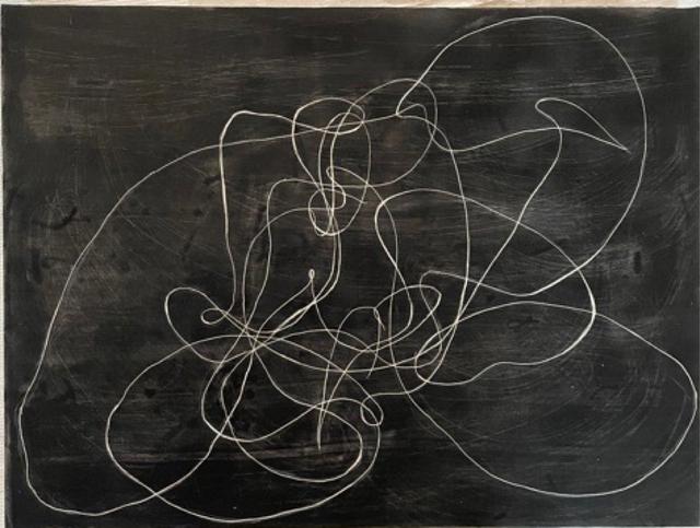 Elliott Puckette, 'Untitled', 2020, Painting, Ink, gesso & kaolin on wood, BOMB Magazine Benefit Auction