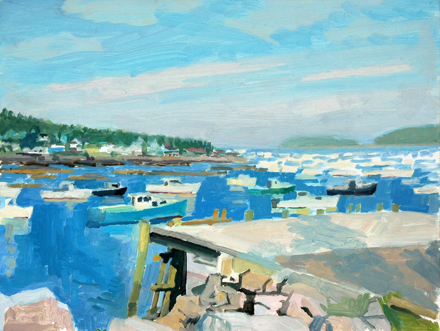 Richard Kirk Mills, 'Stonington Harbor', 2018, Blue Mountain Gallery