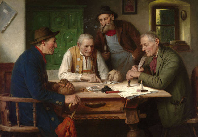 Josef Wagner-Hohenberg, 'Settling the Account', 19th century, Painting, Oil on canvas,  M.S. Rau