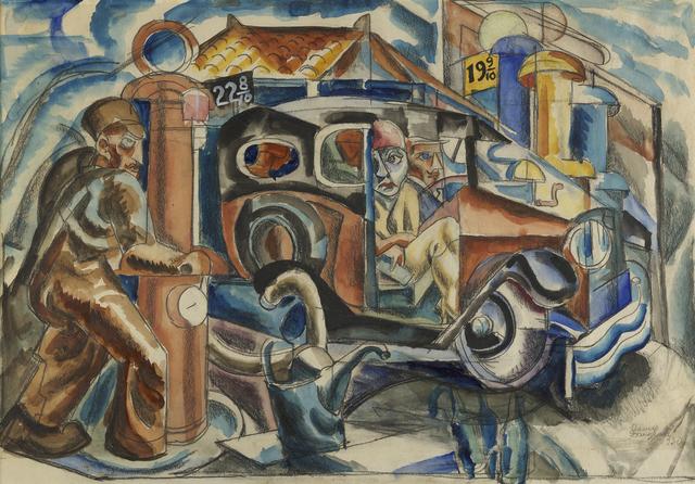 , 'Five Gallons of Gas,' 1930, Debra Force Fine Art