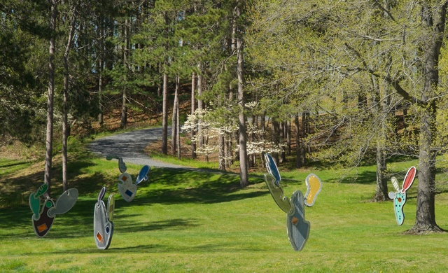 , 'Architectural Cactus Grove, #1–6,' 2008, Storm King Art Center