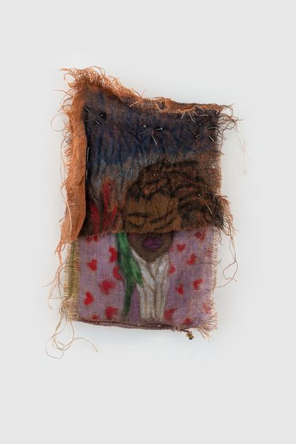 Quiara Torres, 'Mona Visa', 2019, Mixed Media, Oil, Dye, Mixed media on burlap, Almine Rech