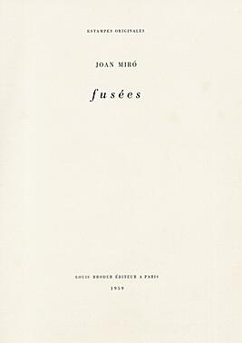 Joan Miró, 'Fusées', 1959, Galerie Boisseree