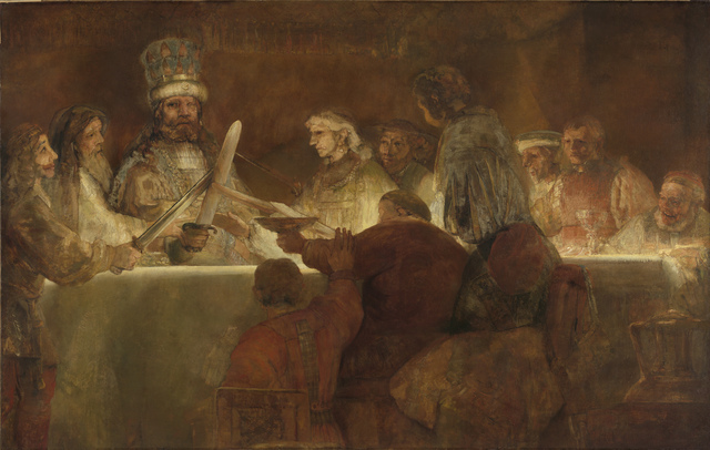 , 'The Conspiracy of the Batavians under Claudius Civilis,' 1661-1662, The National Gallery, London
