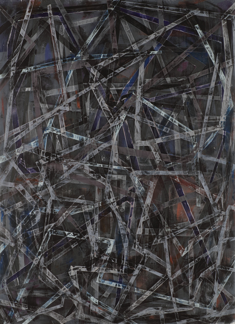, 'Grinder Painting 10 (Black),' 2017, Z Gallery Arts