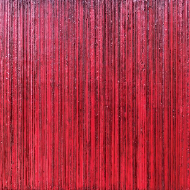 , 'stripes on wood, red no. 4 29/29, the bungalow collection,' 2019, G44 Gallery