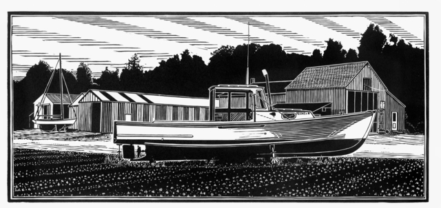 , 'Maine Lobster Boat,' , Dowling Walsh