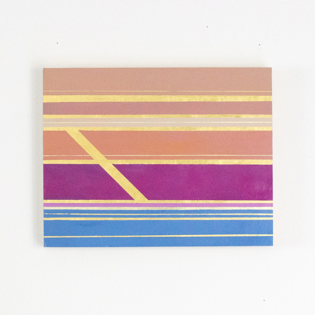 Kate Hooray Osmond, 'Suit and Tie #2', 2018, Painting, Oil and gold leaf, panel, Miller Gallery Charleston
