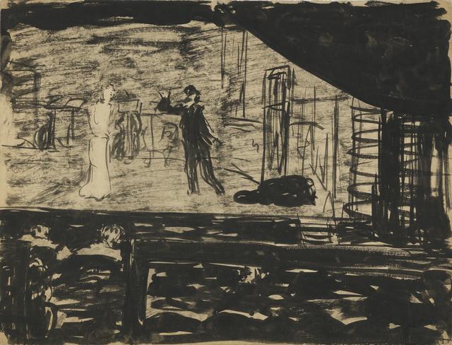 , 'Répétition sur la scène,' 1890-1891, Jill Newhouse Gallery