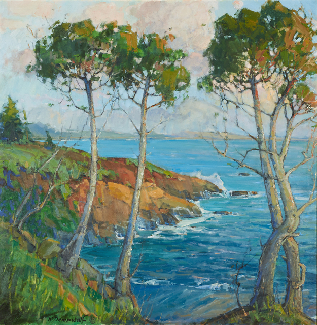 Karl Dempwolf, 'Point Lobos Sunset', Painting, Oil on canvas (framed), Rago/Wright