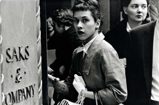 , 'Surprised Woman at Saks, New York City,' 1956, Bruce Silverstein Gallery