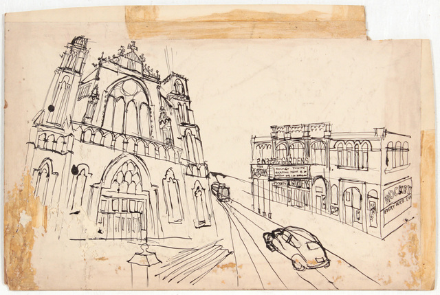 , 'Church in Pittsburgh,' 1948-1949, Andy Warhol Museum