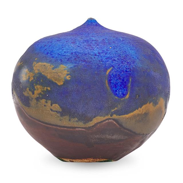 Toshiko Takaezu, 'Small cobalt form with rattle, USA', Rago