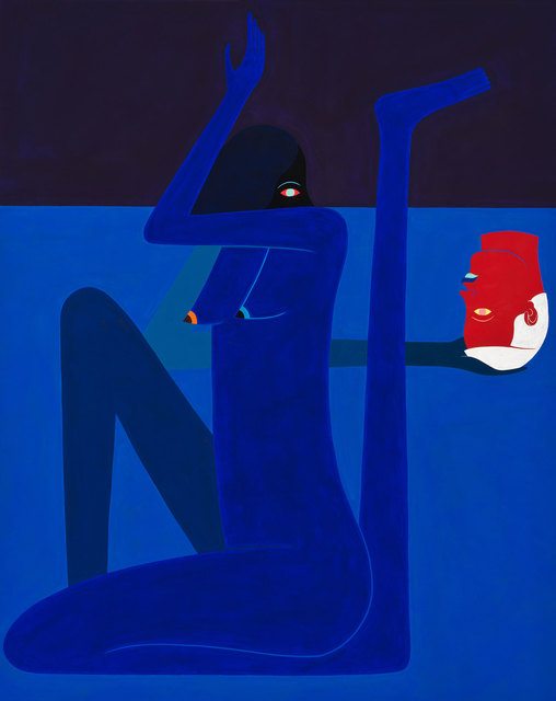 , 'Cold Shoulder. Blue Figure with (Red) Head,' 2016, Gastman