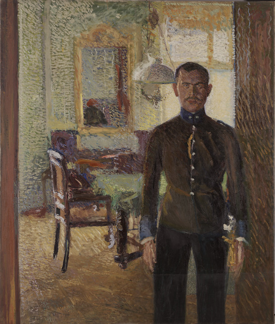 Richard Gerstl, 'Portrait of Lieutenant Alois Gerstl,' About 1907, The National Gallery, London
