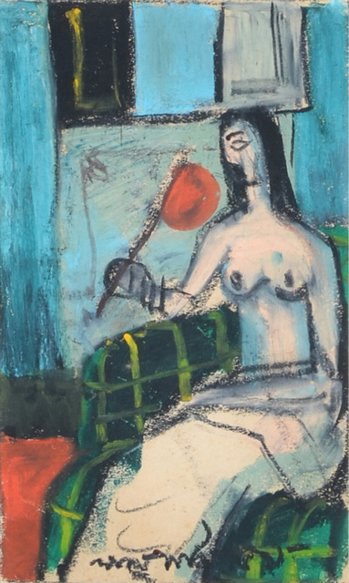 , 'Lady with Pankha - I,' 1959, Swaraj Art Archive