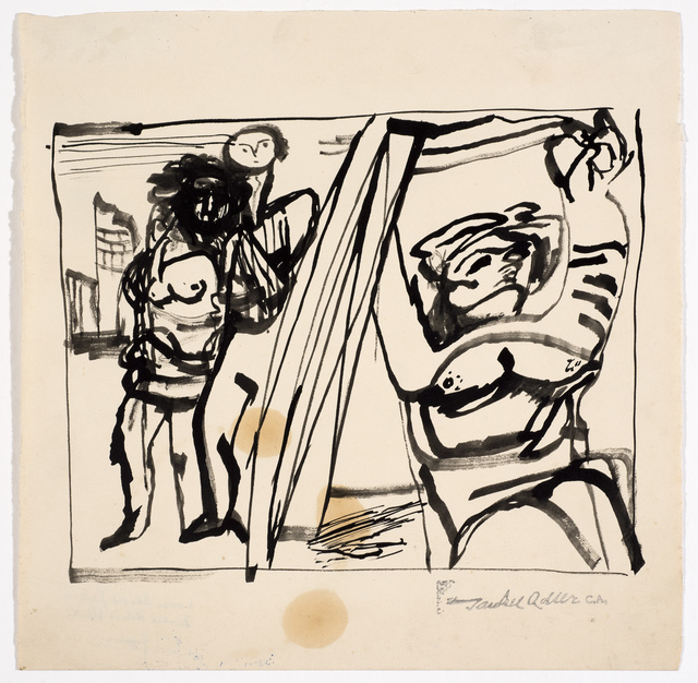 , 'Untitled (Two Figures) ,' Undated, Ben Uri Gallery and Museum