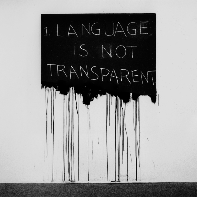 Mel Bochner, 'Language Is Not Transparent', 1970, National Gallery of Art, Washington, D.C.