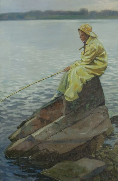 , 'Fisherwoman,' , Questroyal Fine Art