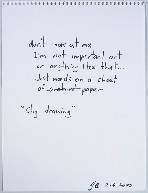 , 'Untitled (Shy Drawing),' 2000, Contemporary Art Gallery