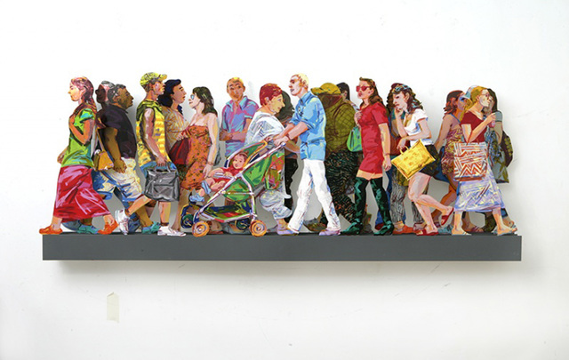 David Gerstein, 'Shoppers In Mamila A', 2016, Galerie Duret