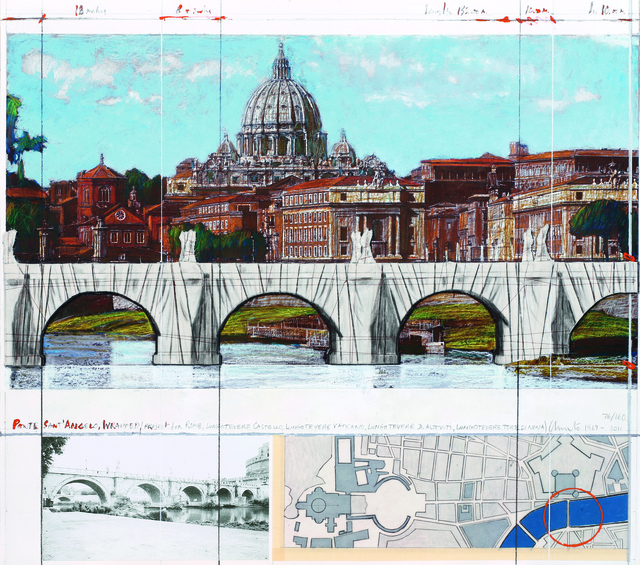 , 'Ponte San Angelo, wrapped, project for Rome,' 2011, Davis Klemm Gallery