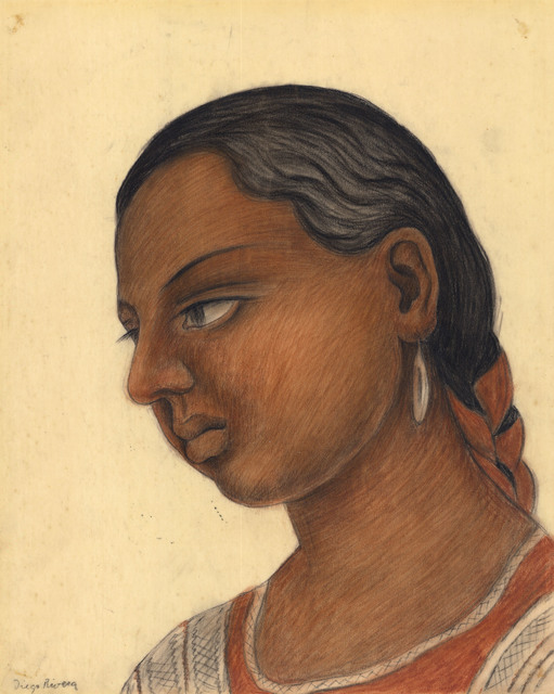 Diego Rivera, 'Portrait of A Young Girl.', ca. 1938, The Old Print Shop, Inc.