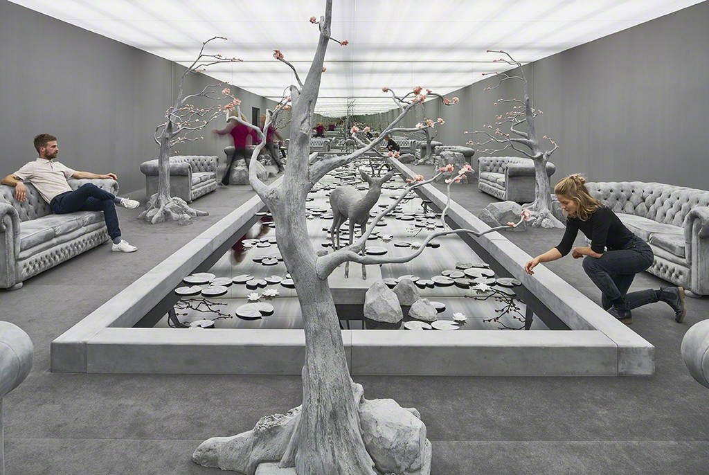 "Hans op de Beeck, ""The Garden Room"", 2017, installation"