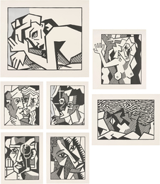 Expressionist Woodcut Series (Black State)