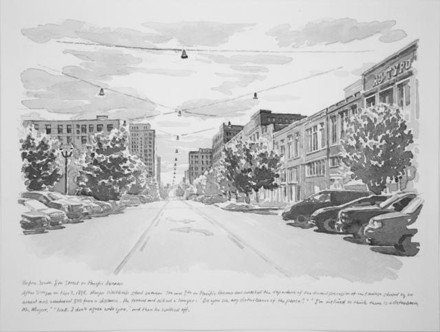 , 'Before South 8th Street on Pacific Avenue,' 2017, Koplin Del Rio
