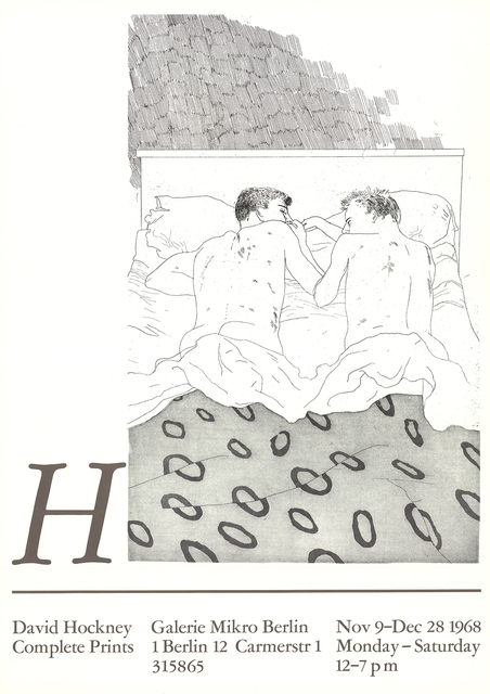 David Hockney, 'Two Boys Aged 23 or 24', 1968, Ephemera or Merchandise, Offset Lithograph, ArtWise