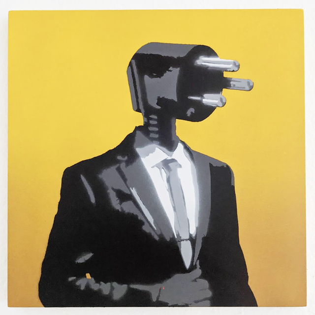"Kar-Part, '""Power Hungry""  aerosol on wood ', 2020, Painting, Aerosol on wood, Wallspace"